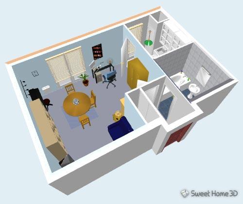 Sweethome3d pack logiciel libre de l 39 entreprise for Programma x arredare casa 3d